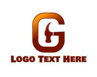 Tools - Hammer Letter G logo design
