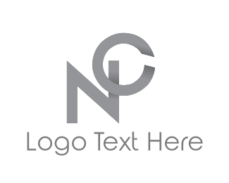 Gray - N & C logo design