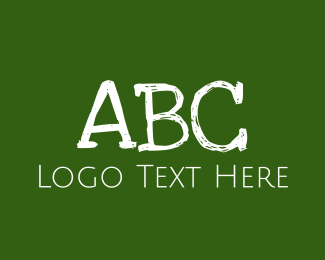 Abc - Green Chalkboard logo design