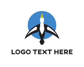 Seagull - Blue Gull logo design