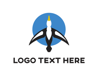 Transportation - Blue Gull logo design
