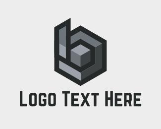 Double - B Cube logo design