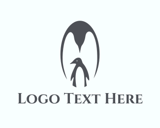 Cold - Penguin Family logo design