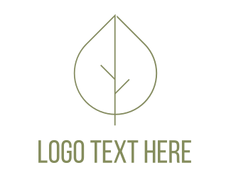 Peaceful - Leaf Tree logo design
