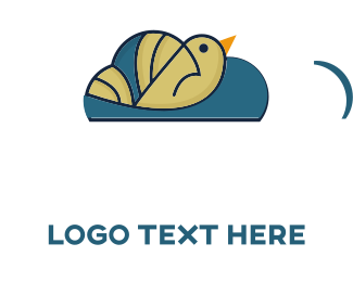 Hosting - Bird Cloud logo design