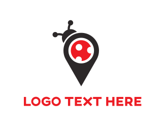 Gps - Bug Map logo design