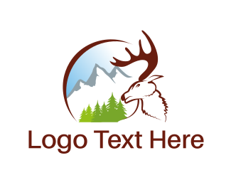Buck - White Moose logo design