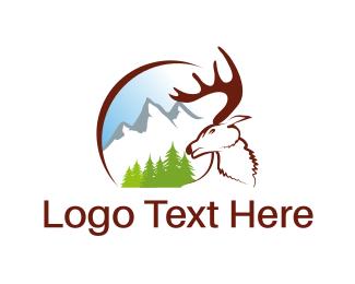 Moose - White Moose logo design