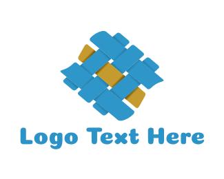Needlework - Fabric Texture logo design