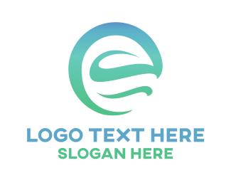 Cooling - Mint E Leaf logo design