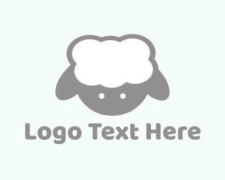 Wool - Cute Baby Lamb logo design