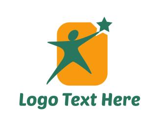 Leadership - Reaching Goals logo design