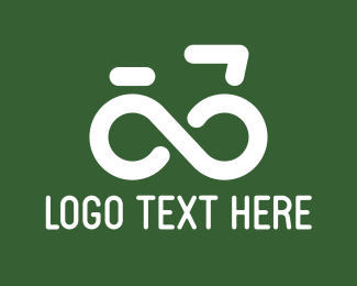 Cyclist - Infinite Bike logo design