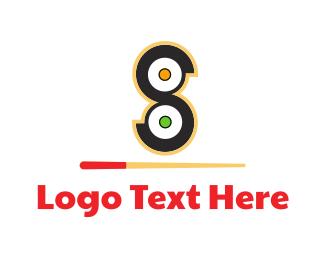 Number 8 - Sushi Rolls logo design