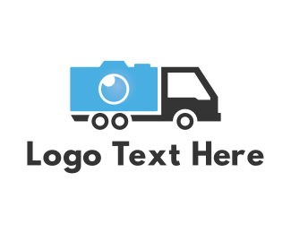 Van - Camera Truck logo design