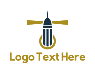 Lighthouse - Blue Lighthouse  logo design