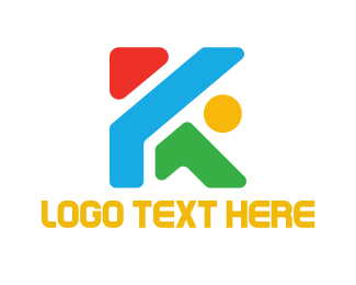 Bold - Colorful Letter K logo design