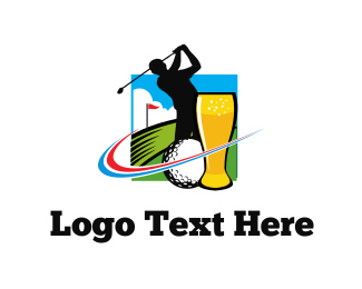 Hole - Golf & Beer logo design
