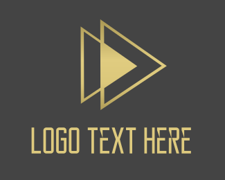 App - Golden Triangles logo design