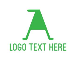 Green Letter A Logo