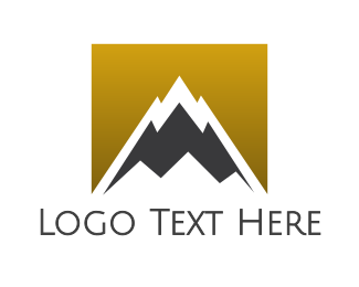 Tourist - Gradient Gold Mountain logo design