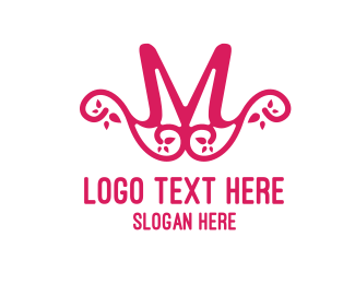 Pattern - Pink Pattern M logo design