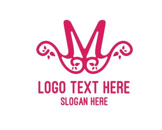 Ornament - Pink Pattern M logo design
