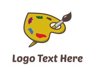 Painting - Paint Love logo design