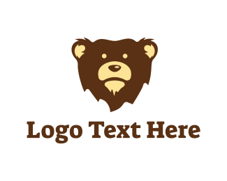 Kids - Brown Bear Mascot logo design