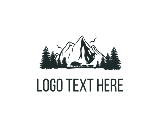 Hunting - Mountains Nature logo design