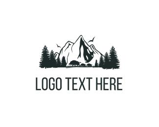 Highlands - Mountains Nature logo design