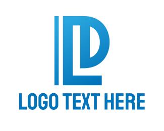 Freezer - Abstract Blue LD logo design