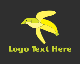 Green And Yellow - Banana Bird logo design