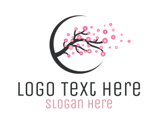 Cherry Blossom Branch Logo