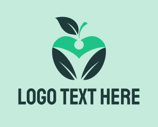 Fruit - Black Apple logo design