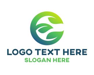 Landscape Architect - Eco E Leaves logo design