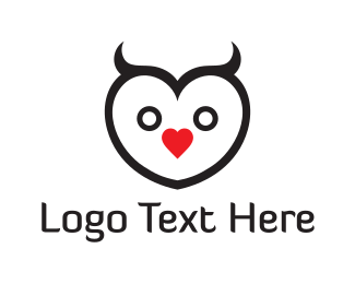 Love - Lovely Owl logo design