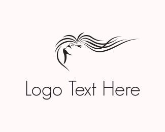 Stylist - Wavy Hair logo design