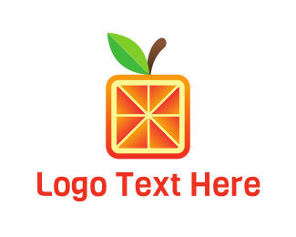 Green And Orange - Square Orange logo design