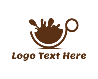 Mug - Hot Chocolate Splash logo design