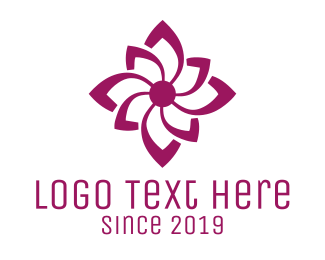 Flower Shop - Purple Flower logo design
