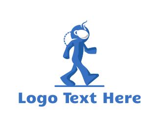 Walk - Coffee Astronaut logo design