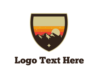 Hill - Sunset Landscape  logo design