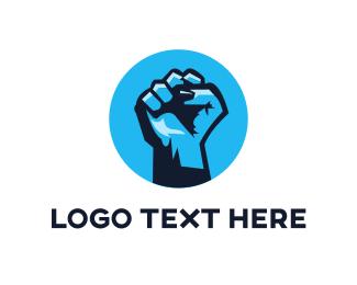 Honor - Blue Fight logo design