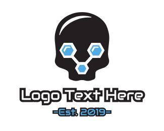 Skeleton - Data Skull logo design