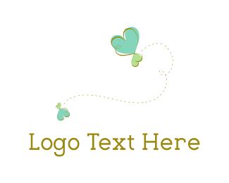 Path - Heart Butterfly logo design