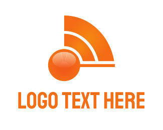 Satellite - Orange Wave logo design