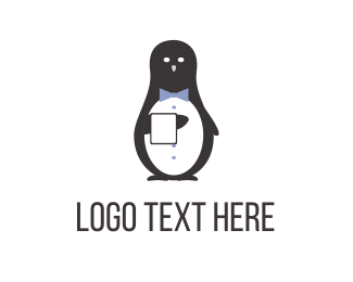 Butler - Tuxedo Penguin logo design