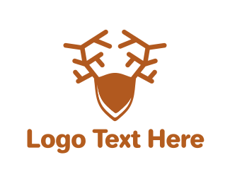 Reindeer - Brown Elk logo design