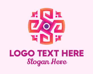 Orange And Pink - Pink Abstract Flower logo design